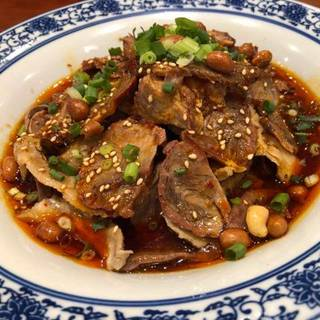 チャーシューと豆のピリ辛炒め