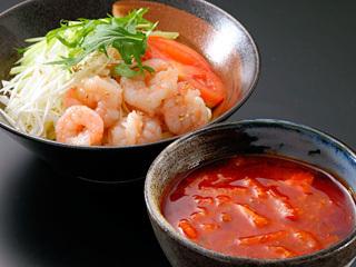 エビチリつけ麺