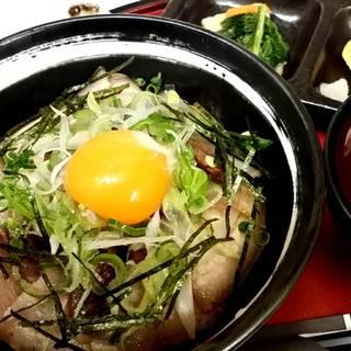 文珠にゅうとんの煮豚丼