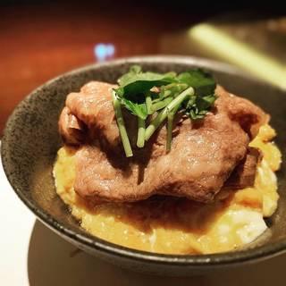 A5ランク宮崎牛サーロインの焼きすき丼