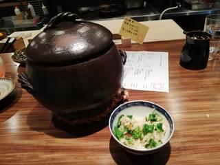 菜の花とカラスミのご飯