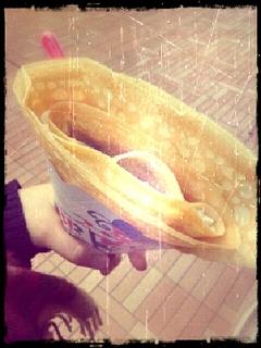 わらび餅と抹茶のアイスクレープ