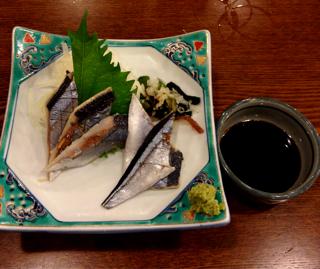 秋刀魚の酢じめ