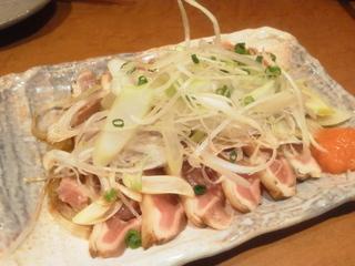 鶏たたきポン酢