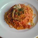 ワタリガニのトマトスープパスタ