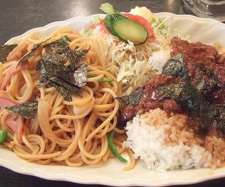 オリエンタルスパゲティ&カルビ焼きのせライス