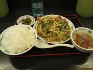 ニラレバ炒め定食