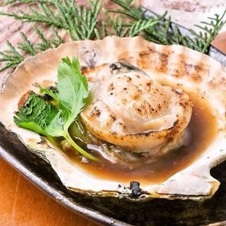 北海道湧別産 活ホタテバター焼