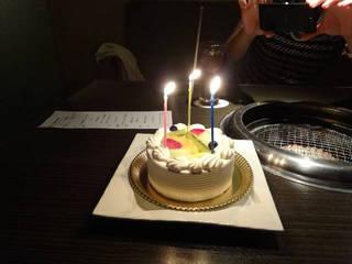 アニバーサリーコース パティシエ手作りホールケーキ