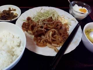 ロース生姜焼きランチ