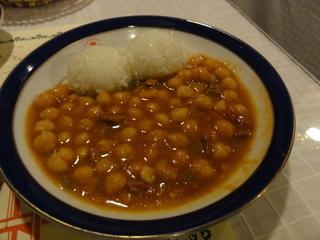 ひよこ豆のトマト煮込み