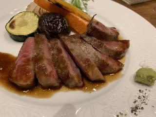 黒毛和牛イチボステーキのコース
