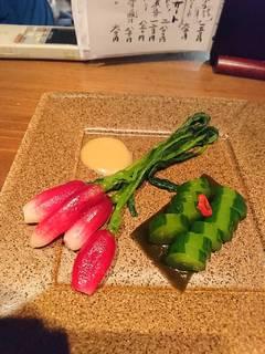 ラディッシュと胡瓜の漬物