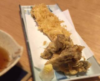 穴子一本の天ぷら