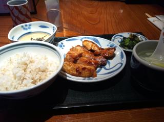 鶏グリル焼き定食