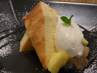 焼レモンのベークドチーズケーキ