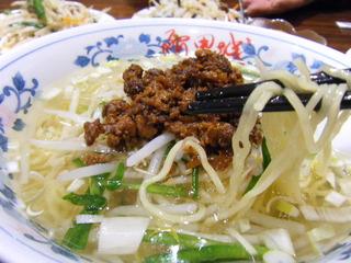 台湾風挽肉入りラーメン