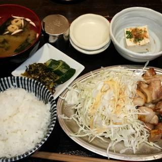 元祖 地鶏塩焼き定食