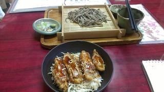 ソースカツ丼と蕎麦のセット