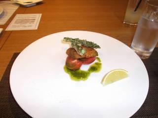 緑棒菜と舌ヒラメのフリット