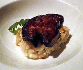 ぺリゴールのフォアグラのソテー&ポルチーニ茸のリゾット