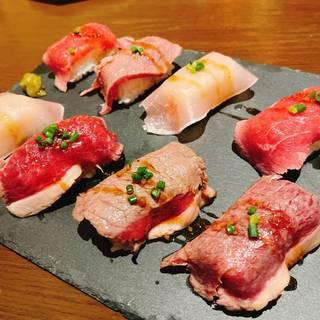 6種の炙り肉寿司食べ放題プラン