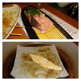マグロの鉄板焼き