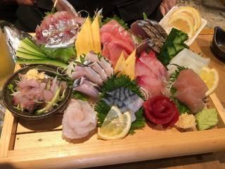 地魚盛り合わせ+α(本日のお刺身盛り合わせ)