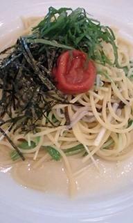 じゃこと水菜の和風スパゲッティ