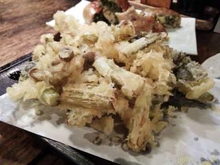 野沢菜の天婦羅