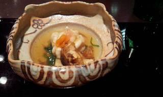 鱈の白子と和歌山の松茸のすだち煮