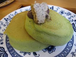 抹茶のホットケーキ