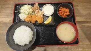 カキフライ&唐揚げ定食