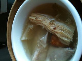 高菜と豚ガツの黒胡椒風味