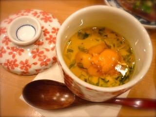 白海老の茶碗蒸し