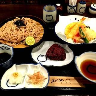 天ぷら黒麦ざるうどんセット