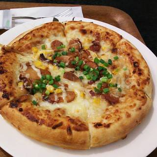 照り焼きチキンのピッザ