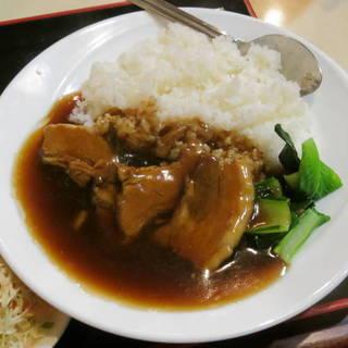 豚角煮丼定食