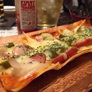 ピリ辛チョリソーのピザハーフ
