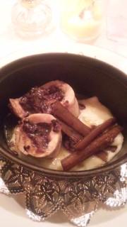 若鶏と赤米と黒米のガランティーヌ