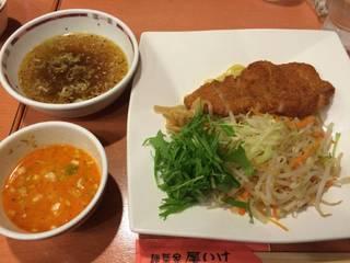 野菜たっぷりつけ麺(パーコーのせ)