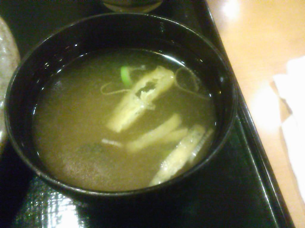 単品味噌汁