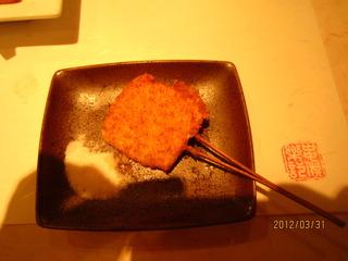 トウモロコシの串揚げ