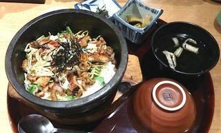 石焼 鰻(うなぎ)と穴子ひつまぶし定食