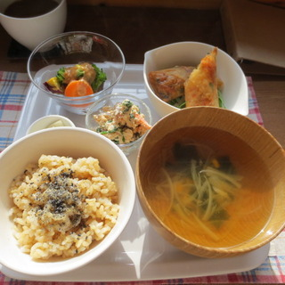 玄米野菜プレート