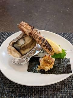 牡蛎 焼しゃこ