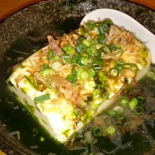 青のりの湯豆腐