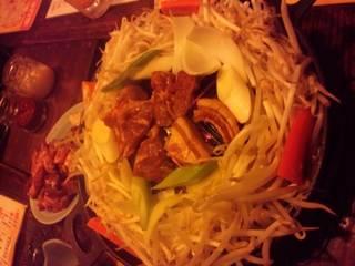 ラム肉ジンギスカン 一皿