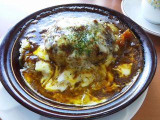 焼きチーズハンバーグカレードリア