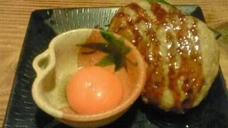 みつせ鶏つくねの甘辛黄身醤油
